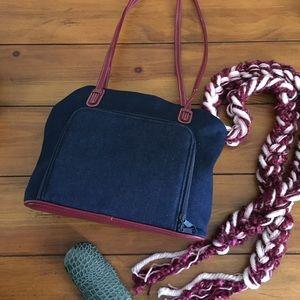Handbags - 🆕🎁 Blue Denim with Red Handles Bag